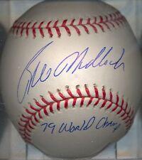 Bill Madlock 1979 World Champs Pittsburgh Pirates OML Autographed Baseball COA
