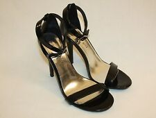 Womens Ladies Madden Girl Black High Heels Open Toe Shoes Size 7.5M