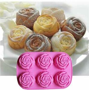 Rose Flower Silicone Mould Cake Muffin Chocolate Candle Soap Resin Craft Fondant