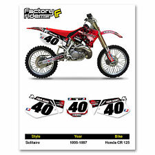 1995-1997 HONDA CR 125 Number Plate Dirt Bike Graphics Solitaire By Enjoy MFG