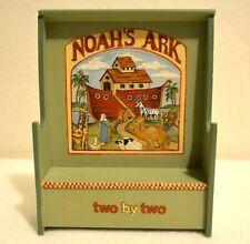 Miniature Bench Dollhouse 1:12 Noah Ark Painted Artisan