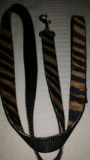 """MIRAGE Large LEAD 4Ft long x 1"""" WIDE TOP QUALITY. Velvet Ribbon backed TIGER"""