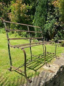 Super 19th Century Strap Work Antique Iron Bench / Seat