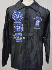 Phi Beta Sigma Fraternity Line Jacket- Black- Size XL-New!