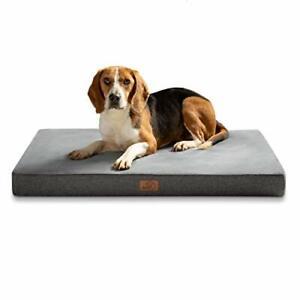Bedsure Large Memory Foam Dog Crate Mattress - Waterproof Orthopedic Dog Bed