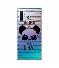 Coque Galaxy NOTE 10 Panda licorne ninja raye unicorn transparente