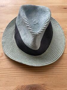 Used Men's Paul Smith Straw Summer Sun Hat Size Medium Italian Made 99p Start