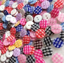 100 Pcs Mixed Color 2 hole Round Resin Button For Sewing Scrapbook Button erk845