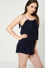 Navy Pleated Playsuit-Navy-10