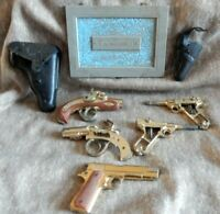 MARX CAP GUN - lot of 5-2 holsters-vintage&original--donor lot