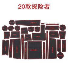 For Ford Explorer 2020 Rubber Mat Non-slip Mat Interior Cup Pad Door Groove Mat