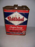 Vintage Rare Radbiloil 2000 Mile Motor Oil 2 Gallon Can Gas Station Advertising