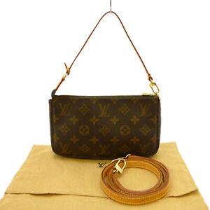 Authentic LOUIS VUITTON Pochette Accessories with Strap Monogram M51980 #S407162