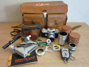 Vintage Argus C-44 Film Camera with Cintagon Lens, lots accessories leather case