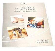 2x A4 Magnétique Finition brillante Papier photo impression jet d'encre