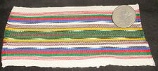 "Dollhouse Miniature White Backstrap Guatemala Blanket Rug @ 3X5"" Southwest #1"