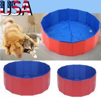 Large Pet Bath Tub Pool Foldable Portable Bathing Dog Outdoor Lightweight Wash
