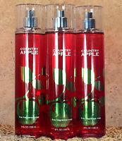 3 BATH AND BODY WORKS Fragrance Mist Splash Spray COUNTRY APPLE SCENT 3 BOTTLES