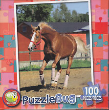 NEW Puzzlebug 100 Piece Jigsaw Puzzle ~ Horse on a Farm
