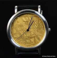 Muonionalusta Meteorite Watch Gold plated dial Stainless steel Ronda Swiss