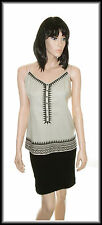 M&S Strappy Embroidered Linen Mix Top size  UK 16  EUR 44