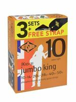 rotosound 3-pack with free strap - 3 string sets bronze  jumbo king JK10-31