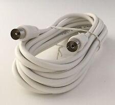 5m Antennenkabel Koaxkabel Antennen Kabel Koax NEU weiß