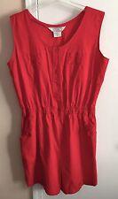 vtg 70s SPECIAL EVENTS Red Cotton Gym Suit Romper Playsuit XXL