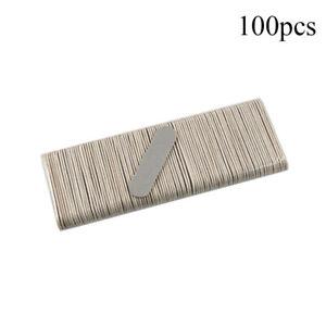 100Pcs/Set Double-Sided Wood Nail File Sanding Buffers Sandpaper Manicure Tools