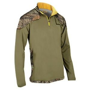 """""""NEW PRICING"""" MOSSY OAK MENS 1/4 ZIP WICKING BASE LAYER, MEDIUM WEIGHT, SIZE 2XL"""