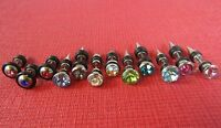 MEN WOMEN STAINLESS STEEL SPIKE EAR STUD EARRINGS FAKE PLUG PUNK ROCK GOTHIC EMO