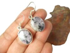 CHAROITE    Sterling  Silver  925  Gemstone  EARRINGS  -  Gift  Boxed