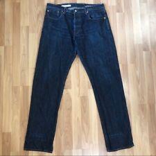 Gap 1969 Men's Straight Leg Japanese Selvage Jeans size 36 X 34 Dark Wash