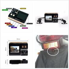 """Mini LCD Screen Display 2.0"""" HD Motorcycles ATV Dual Lens DVR Video Recorder 12V"""