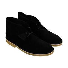 Clarks Desert Boot 26128537 Mens Black Suede Comfort Desert Boots Shoes 13