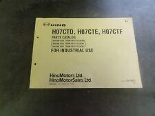 Hino H07CTD H07CTE H07CTF Engine Parts Catalog Manual   B-6661