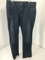LAND'S END WOMEN'S MID-RISE STRAIGHT JEANS SIZE 16 NWT