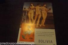 BOLIVIA MNH MINIATURE SHEET MINT 1985 RAPHAEL ORCHID NUDES