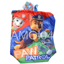 Paw Patrol Kids Library Sports Beach Draw String Carry Bag New