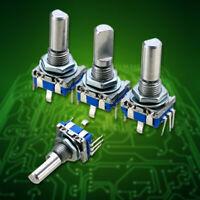 3pcs 6mm Shaft Dia 20 Position 5 Pin 360 Degree Rotary Encoder W/Push Button Kit