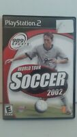 World Tour Soccer 2002 PS2 Video Game (Sony PlayStation 2, 2002) CIB Tested