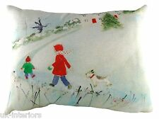 "17""x13"" Home For Tea Sue Fenlon Cushion Evans Lichfield DPA260 43x33cm Christmas"