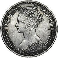 1873 GOTHIC FLORIN - VICTORIA BRITISH SILVER COIN - NICE
