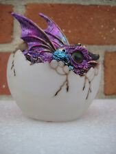 Purple Baby Dragon With Egg Figurine Statue Home decor