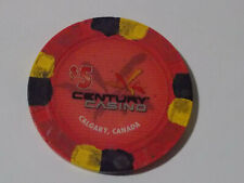 New ListingCentury Casino $5 hotel casino gaming poker chip ~ Calgary, Canada
