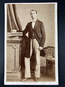 Durand, Châlons sur Marne, Personnalité à identifier Vintage print. Carte cabine