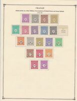 france stamps  page mounted mint & used ref 17482