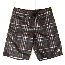 ONeill Mens Cargo Board Shorts 30 Swim Trunks Black Hybrid Front Side Pockets