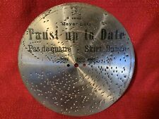 Antique Original Mira Music Box Disc 9.25� #422 Faust Up To Date Skirt Dance