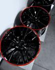 C7 Z06 Style Gloss Black Corvette Wheels Red Lip 19x1020x12 2015-2019 Z06gs